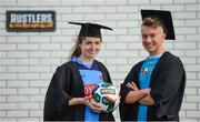 13 September 2017; Dearaibhle Beirne of UCD and Darragh Markey of Maynooth University in attendance during the Rustlers FAI Colleges and Universities launch at the FAI HQ in Abbotstown, Dublin. Photo by Cody Glenn/Sportsfile