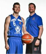 13 September 2017; Ian Thom, left, and coach Paul Kelleher of Neptune, Cork, pictured at the official launch of the Basketball Ireland season 2017/18 at the National Basketball Arena in Tallaght, Dublin, where the Hula Hoops National Cup draw also took place. Photo by Brendan Moran/Sportsfile