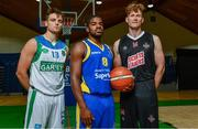 13 September 2017; Patrick McCarthy of Garvey's Tralee Warriors Kerry, Kevin Gray of Keane's SuperValu Killorglin, Kerry, and Andrew Fitzgerald of St Paul's Killarney, Kerry, pictured at the official launch of the Basketball Ireland season 2017/18 at the National Basketball Arena in Tallaght, Dublin, where the Hula Hoops National Cup draw also took place. Photo by Sam Barnes/Sportsfile