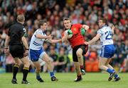 24 June 2012; Eoin McCartan, Down, in action against Dessie Mone, left, and Tommy Freeman, Monaghan. Ulster GAA Football Senior Championship Semi-Final, Down v Monaghan, Morgan Athletic Grounds, Armagh. Picture credit: Dáire Brennan / SPORTSFILE