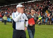24 June 2012; Monaghan manager Eamon McEneaney at the final whistle. Ulster GAA Football Senior Championship Semi-Final, Down v Monaghan, Morgan Athletic Grounds, Armagh. Picture credit: Oliver McVeigh / SPORTSFILE