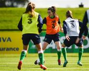 15 September 2017; Roma McLaughlin, centre, of Republic of Ireland during a squad training session at the FAI National Training Centre in Abbotstown, Dublin.  Photo by Seb Daly/Sportsfile