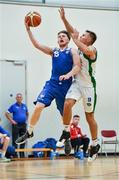 15 September 2017; Jack O'Mahony of UCC Demons in action against Mike O'Donnell of Garvey's Tralee Warriors during the Basketball Ireland Men's Super League match between UCC Demons and Garvey's Tralee Warriors at Mardyke Arena in Cork. Photo by Brendan Moran/Sportsfile