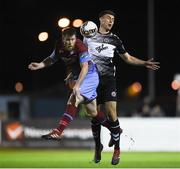 15 September 2017; Chris Mulhall of Drogheda United in action against Warren O'Hora of Bohemians during the SSE Airtricity League Premier Division match between Drogheda United and Bohemians at United Park in Drogheda, Co. Louth. Photo by Seb Daly/Sportsfile