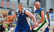 15 September 2017; Colin O'Reilly of UCC Demons in action against Kieran Donaghy of Garvey's Tralee Warriors during the Basketball Ireland Men's Super League match between UCC Demons and Garvey's Tralee Warriors at Mardyke Arena in Cork. Photo by Brendan Moran/Sportsfile