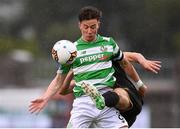 16 September 2017; Ronan Finn of Shamrock Rovers in action against Robbie Benson of Dundalk during the EA Sports Cup Final between Shamrock Rovers and Dundalk at Tallaght Stadium in Dublin. Photo by Stephen McCarthy/Sportsfile