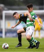 16 September 2017; Shane Grimes of Dundalk in action against Aaron Bolger of Shamrock Rovers during the EA Sports Cup Final between Shamrock Rovers and Dundalk at Tallaght Stadium in Dublin. Photo by Stephen McCarthy/Sportsfile
