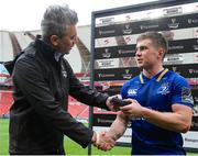 16 September 2017; Luke McGrath of Leinster receives his player of the match award after the Guinness PRO14 Round 3 match between Southern Kings and Leinster at the Nelson Mandela Bay Stadium in Port Elizabeth, South Africa. Photo by Richard Huggard/Sportsfile