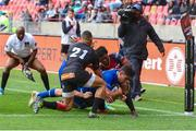 16 September 2017; Joey Carbery of Leinster scores a try during the Guinness PRO14 Round 3 match between Southern Kings and Leinster at the Nelson Mandela Bay Stadium in Port Elizabeth, South Africa. Photo by Richard Huggard/Sportsfile