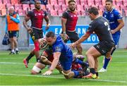 16 September 2017; Jack Conan of Leinster goes over to score a try during the Guinness PRO14 Round 3 match between Southern Kings and Leinster at the Nelson Mandela Bay Stadium in Port Elizabeth, South Africa. Photo by Richard Huggard/Sportsfile