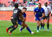 16 September 2017; Joey Carbery of Leinster on his way to scoring a try during the Guinness PRO14 Round 3 match between Southern Kings and Leinster at the Nelson Mandela Bay Stadium in Port Elizabeth, South Africa. Photo by Richard Huggard/Sportsfile