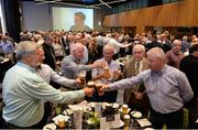 16 September 2017; A toast for the late Galway hurler Tony Keady during the GPA Former Players Event at Croke Park in Dublin. Photo by Cody Glenn/Sportsfile