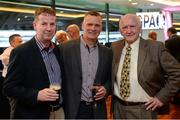 16 September 2017; Former Offaly hurler Pat O'Connor, from left, former Offaly footballer Padraig Dunne, and former Kerry footballer Pat McCarthy, in attendance during the GPA Former Players Event at Croke Park in Dublin. Photo by Cody Glenn/Sportsfile