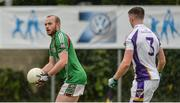 16 September 2017; Ciarán McGoldrick of Eoghan Rua in action against Cillian O'Shea of Kilmacud Crokes during the Volkswagen7s Senior All Ireland Football 7s final match between Kilmacud Crokes of Dublin and Eoghan Rua, Coleraine, of Derry at Kilmacud Crokes in Dublin. Photo by Piaras Ó Mídheach/Sportsfile