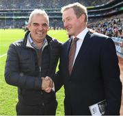 17 September 2017; Golfer Paul McGinley and former Taoiseach Enda Kenny prior to the GAA Football All-Ireland Senior Championship Final match between Dublin and Mayo at Croke Park in Dublin. Photo by Stephen McCarthy/Sportsfile