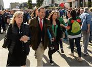 17 September 2017; Jeff Stelling walks across Jones' Road on his way into Croke Park ahead of the match. Watch Jeff Stelling and Chris Kamara commentate on the All-Ireland Football Final in the final episode of AIB's Jeff & Kammy's Journey to Croker airing on www.youtube.com/AIB at 5pm on Monday 25th September. For exclusive content and behind the scenes action follow AIB GAA on Facebook, Twitter, Instagram and Snapchat. Photo by Cody Glenn/Sportsfile