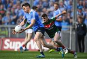 17 September 2017; Paddy Andrews of Dublin in action against Brendan Harrison of Mayo during the GAA Football All-Ireland Senior Championship Final match between Dublin and Mayo at Croke Park in Dublin. Photo by Eóin Noonan/Sportsfile