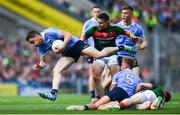 17 September 2017; Paddy Andrews of Dublin in action against Jason Doherty of Mayo during the GAA Football All-Ireland Senior Championship Final match between Dublin and Mayo at Croke Park in Dublin. Photo by Ramsey Cardy/Sportsfile