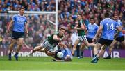 17 September 2017; Donal Vaughan of Mayo in action against Jonny Cooper of Dublin during the GAA Football All-Ireland Senior Championship Final match between Dublin and Mayo at Croke Park in Dublin. Photo by Eóin Noonan/Sportsfile