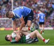 17 September 2017; Eoghan O'Gara of Dublin and Colm Boyle of Mayo during the GAA Football All-Ireland Senior Championship Final match between Dublin and Mayo at Croke Park in Dublin. Photo by Stephen McCarthy/Sportsfile