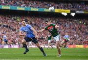 17 September 2017; Eoghan O'Gara of Dublin in action against Brendan Harrison of Mayo during the GAA Football All-Ireland Senior Championship Final match between Dublin and Mayo at Croke Park in Dublin. Photo by Stephen McCarthy/Sportsfile