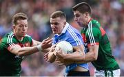 17 September 2017; Ciarán Kilkenny of Dublin in action against Donal Vaughan, left, and Lee Keegan of Mayo during the GAA Football All-Ireland Senior Championship Final match between Dublin and Mayo at Croke Park in Dublin. Photo by Eóin Noonan/Sportsfile