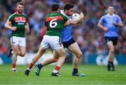 17 September 2017; Paddy Andrews of Dublin in action against Chris Barrett of Mayo during the GAA Football All-Ireland Senior Championship Final match between Dublin and Mayo at Croke Park in Dublin. Photo by Sam Barnes/Sportsfile