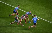 17 September 2017; Andy Moran of Mayo in action against Dublin players, left to right, Michael Fitzsimons, Jonny Cooper, and Con O'Callaghan during the GAA Football All-Ireland Senior Championship Final match between Dublin and Mayo at Croke Park in Dublin. Photo by Daire Brennan/Sportsfile
