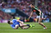 17 September 2017; Jack McCaffrey of Dublin in action against Keith Higgins of Mayo during the GAA Football All-Ireland Senior Championship Final match between Dublin and Mayo at Croke Park in Dublin. Photo by Stephen McCarthy/Sportsfile