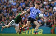 17 September 2017; Con O'Callaghan of Dublin evades the tackle of Colm Boyle of Mayo on his way to scoring his side's first goal during the GAA Football All-Ireland Senior Championship Final match between Dublin and Mayo at Croke Park in Dublin. Photo by Ray McManus/Sportsfile