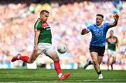 17 September 2017; Andy Moran of Mayo in action against Philip McMahon of Dublin during the GAA Football All-Ireland Senior Championship Final match between Dublin and Mayo at Croke Park in Dublin. Photo by Brendan Moran/Sportsfile
