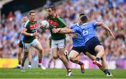 17 September 2017; Keith Higgins of Mayo is tackled by John Small of Dublin during the GAA Football All-Ireland Senior Championship Final match between Dublin and Mayo at Croke Park in Dublin. Photo by Brendan Moran/Sportsfile