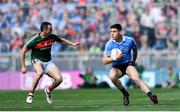 17 September 2017; Diarmuid Connolly of Dublin in action against Keith Higgins of Mayo during the GAA Football All-Ireland Senior Championship Final match between Dublin and Mayo at Croke Park in Dublin. Photo by Ramsey Cardy/Sportsfile