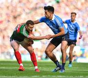 17 September 2017; Andy Moran of Mayo in action against Cian O'Sullivan of Dublin during the GAA Football All-Ireland Senior Championship Final match between Dublin and Mayo at Croke Park in Dublin. Photo by Brendan Moran/Sportsfile