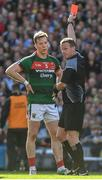 17 September 2017; Donal Vaughan of Mayo receives a straight red card during the GAA Football All-Ireland Senior Championship Final match between Dublin and Mayo at Croke Park in Dublin. Photo by Ray McManus/Sportsfile