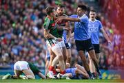 17 September 2017; Donal Vaughan of Mayo in action against Cian O'Sullivan of Dublin during the GAA Football All-Ireland Senior Championship Final match between Dublin and Mayo at Croke Park in Dublin. Photo by Eóin Noonan/Sportsfile