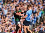 17 September 2017; Andy Moran of Mayo tussles with Jonny Cooper of Dublin during the GAA Football All-Ireland Senior Championship Final match between Dublin and Mayo at Croke Park in Dublin. Photo by Seb Daly/Sportsfile