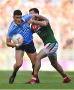 17 September 2017; Stephen Coen of Mayo in action against Ciarán Kilkenny of Dublin during the GAA Football All-Ireland Senior Championship Final match between Dublin and Mayo at Croke Park in Dublin. Photo by Brendan Moran/Sportsfile
