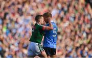 17 September 2017; Andy Moran of Mayo tussles with Jonny Cooper of Dublin during the GAA Football All-Ireland Senior Championship Final match between Dublin and Mayo at Croke Park in Dublin. Photo by Stephen McCarthy/Sportsfile