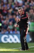 17 September 2017; Mayo manager Stephen Rochford checks his watch during the GAA Football All-Ireland Senior Championship Final match between Dublin and Mayo at Croke Park in Dublin. Photo by Seb Daly/Sportsfile