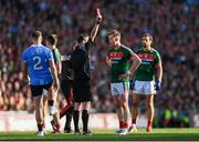 17 September 2017; Donal Vaughan of Mayo is shown a red card by Referee Joe McQuillan during the GAA Football All-Ireland Senior Championship Final match between Dublin and Mayo at Croke Park in Dublin. Photo by Stephen McCarthy/Sportsfile