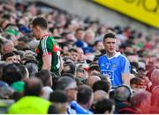 17 September 2017; Donal Vaughan of Mayo and Cian O'Sullivan of Dublin leave the pitch after both receiving a red card during the GAA Football All-Ireland Senior Championship Final match between Dublin and Mayo at Croke Park in Dublin. Photo by Brendan Moran/Sportsfile