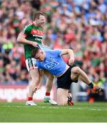 17 September 2017; Colm Boyle of Mayo and Con O'Callaghan of Dublin tussle off the ball during the GAA Football All-Ireland Senior Championship Final match between Dublin and Mayo at Croke Park in Dublin. Photo by Stephen McCarthy/Sportsfile