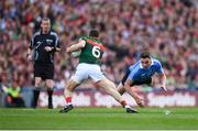 17 September 2017; Chris Barrett of Mayo in action against Paddy Andrews of Dublin during the GAA Football All-Ireland Senior Championship Final match between Dublin and Mayo at Croke Park in Dublin. Photo by Stephen McCarthy/Sportsfile