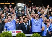 17 September 2017; Dublin's Jack McCaffrey and John Costello with the Sam Maguire after the GAA Football All-Ireland Senior Championship Final match between Dublin and Mayo at Croke Park in Dublin. Photo by Ray McManus/Sportsfile