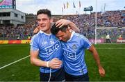 17 September 2017; Diarmuid Connolly, left, and Cian O'Sullivan of Dublin celebrate following the GAA Football All-Ireland Senior Championship Final match between Dublin and Mayo at Croke Park in Dublin. Photo by Stephen McCarthy/Sportsfile