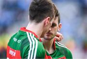 17 September 2017; Brendan Harrison of Mayo is consoled by team mate Cillian O'Connor, left, after the GAA Football All-Ireland Senior Championship Final match between Dublin and Mayo at Croke Park in Dublin. Photo by Eóin Noonan/Sportsfile