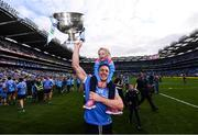 17 September 2017; Eoghan O'Gara of Dublin and his daughter Ella celebrate following the GAA Football All-Ireland Senior Championship Final match between Dublin and Mayo at Croke Park in Dublin. Photo by Stephen McCarthy/Sportsfile