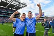 17 September 2017; Dublin's Con O'Callaghan, left, and Eoghan O'Gara celebrate following the GAA Football All-Ireland Senior Championship Final match between Dublin and Mayo at Croke Park in Dublin. Photo by Ramsey Cardy/Sportsfile