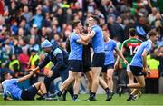 17 September 2017; Paddy Andrews of Dublin, left, celebrates with team mate Brian Fenton after the GAA Football All-Ireland Senior Championship Final match between Dublin and Mayo at Croke Park in Dublin. Photo by Eóin Noonan/Sportsfile